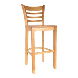 Ladder Cafe and restaurant dinner Chair Pure Solid Wood natural wood color for sale in lahore