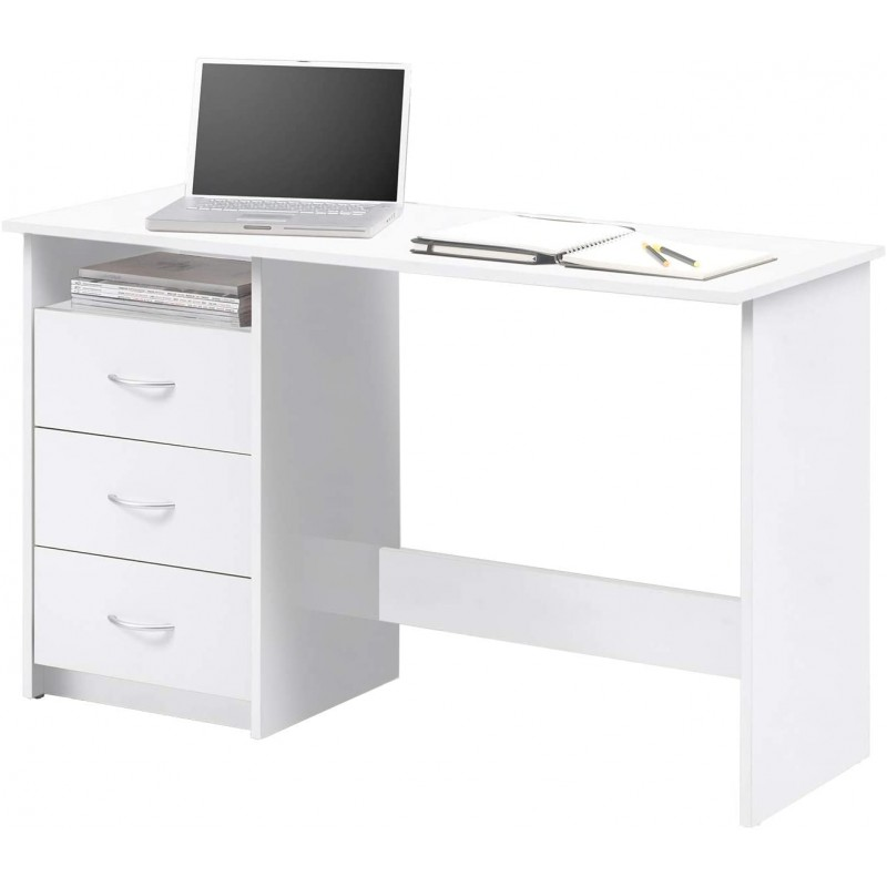 White Computer Table With Drawers Home Design Lahore