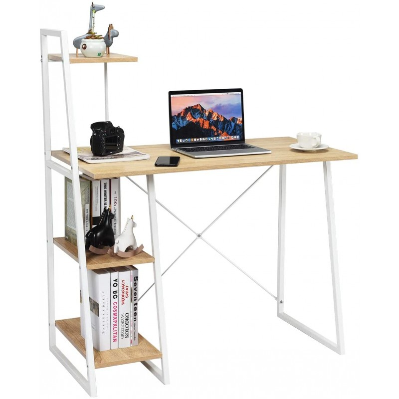 computer table with bookshelf metal frame design with price in lahore pakistan
