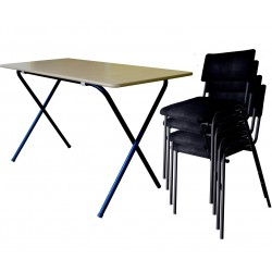 Set of 1 Folding Table + 4 Stacking Chairs buy online Lahore-Pakistan