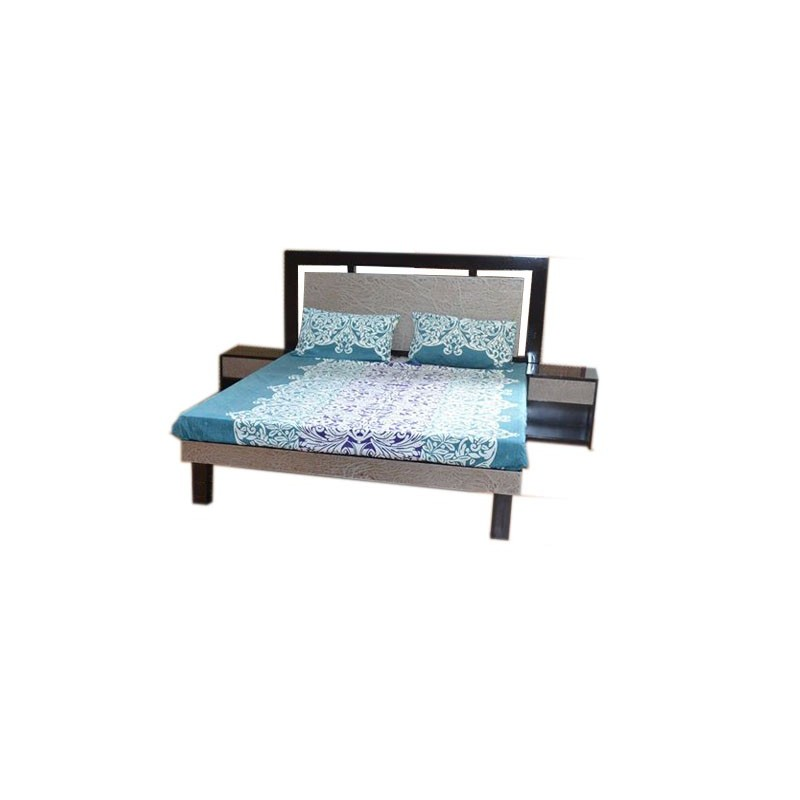 King Size Double Bed Pure Wood + MDF Bed