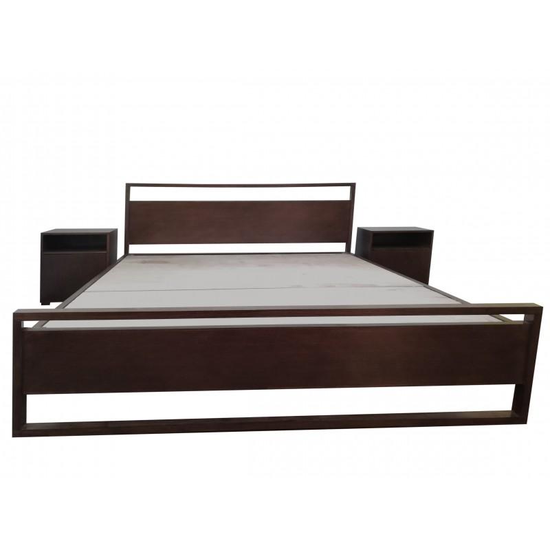 King Size Double Bed Wood + MDF Dark Brown buy online Lahore-Pakistan