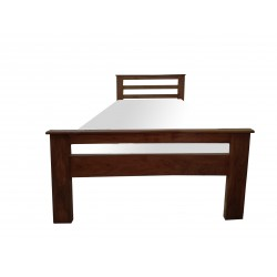 Pure Wood Single Bed Dark Brown Natural Wood Colour buy online Lahore-Pakistan