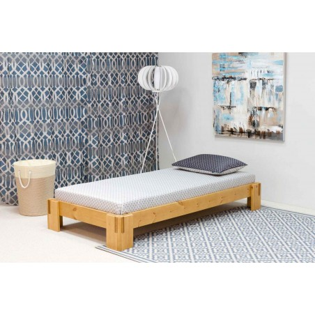 Pure Wood Headless Single Bed buy online Lahore-Pakistan