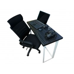 SMART FOLDING COMPUTER TABLE (HD-OT-022) Black & White