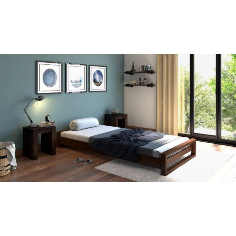 Single Bed Pure Solid Wood design in lahore pakistan