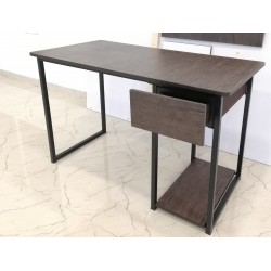 Computer Study Table in Lahore With Drawer & PC CPU Shelf  Dark Brown