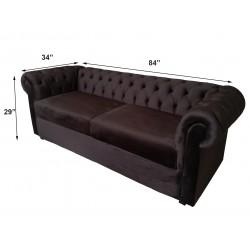 Dark Brown Velvet Chesterfield Sofa latest design price in lahore online