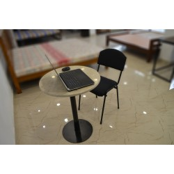 Laptop Marble Round Table for sale online with good price in Lahore