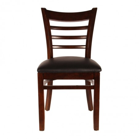 Cafe and restaurant dinner Chair Pure Solid Wood dark brown color for sale in lahore