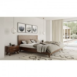 queen size bed Lahore for sale wooden dark brown modern stylish pictures images with price