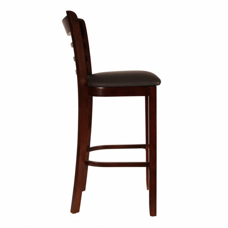 Ladder Cafe and restaurant dinner Chair Pure Solid Wood dark brown color for sale in lahore
