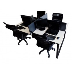 Four (4) Persons Office work station price in Lahore