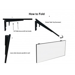 Folding laptop table floating shelf pictures images with price for sale in Lahore Pakistan