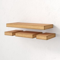 wooden floating wall shelves living room natural wood beech color decorative wall shelves for living room