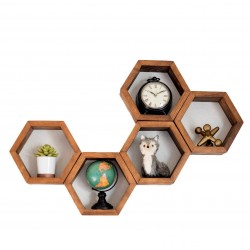 wall mounted shelves hexagon shape for sale in Lahore Pakistan