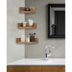 Vicente Set of Bathroom Wooden Corner Shelves