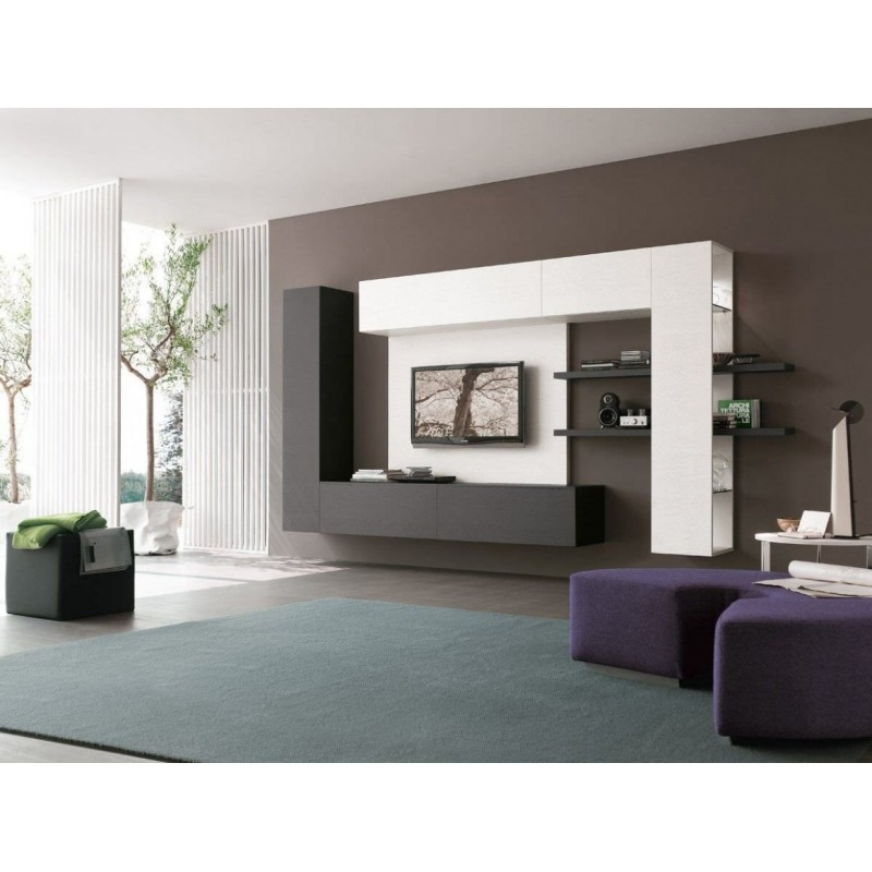 Sierra TV / LCD / LED Console Wall Hanging White and Brown buy online Lahore-Pakistan