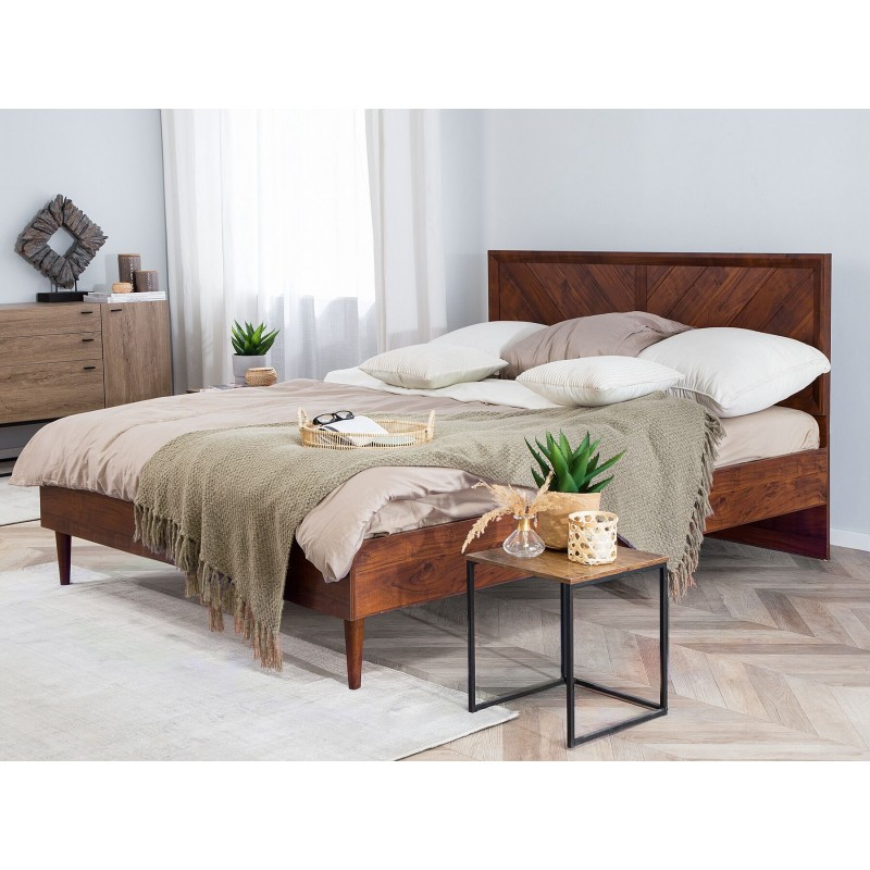 King Size Double Bed Dark Brown design in lahore