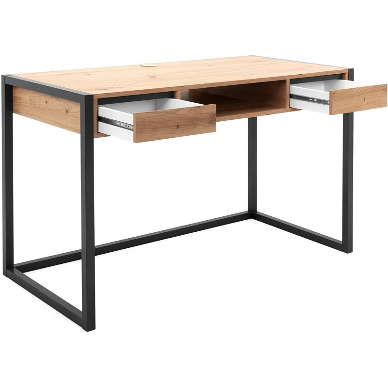 Computer Table With Black Metal Base And Mdf Top Home Design Lahore