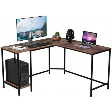 l shape study  computer table with metal frame design with price online lahore