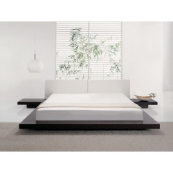 King Size Double low profile bed design with low height platform in lahore pakistan
