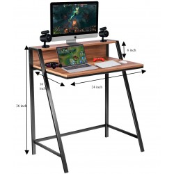 Metal Base Small Computer Table With Extra Shelf buy online Lahore-Pakistan