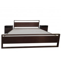 King Size Double Bed Wood + MDF Dark Brown buy online Lahore-Pakistan