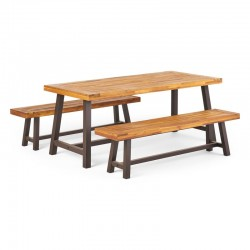 Bartlesville Patio Outdoor Table & Benches buy online Lahore-Pakistan