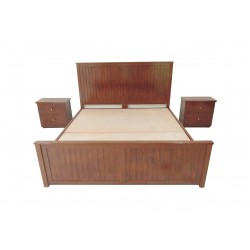King size Storage Double Bed Wood + Laminated Board