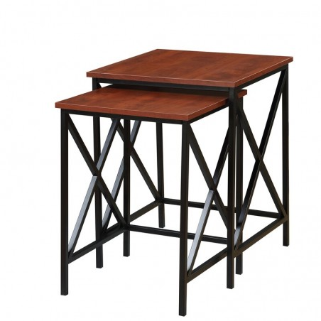 Creeksville Solid Wood 2 Piece Nesting Tables End Table buy online Lahore-Pakistan