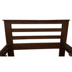 Pure Wood Single Bed Dark Brown Natural Wood Colour buy online Lahore-Pakistan