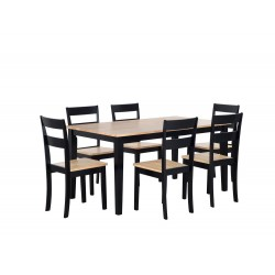 GEORGIA 6 Seater Dining Set Black buy online Lahore-Pakistan