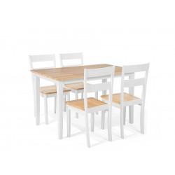 GEORGIA 6 Seater Dining Set White buy online Lahore-Pakistan