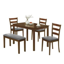 Turnbull Upholstered Wood 5 Piece Dining Table Set buy online Lahore-Pakistan