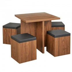 Baxter 5 piece Dining Set with Storage Ottomans buy online Lahore-Pakistan