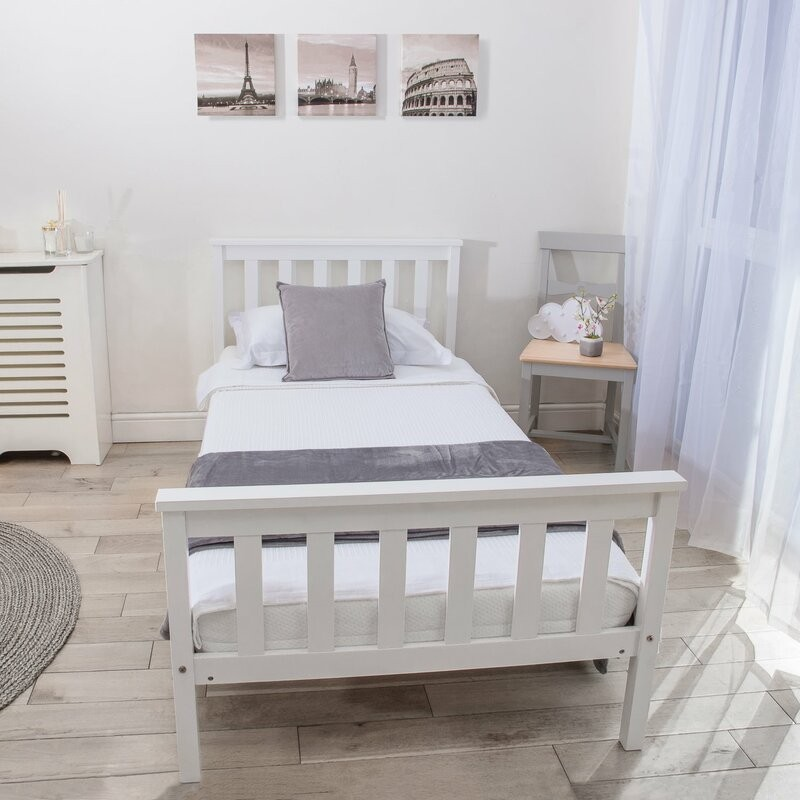 Phineas Pure Wood Single Bed buy online Lahore-Pakistan